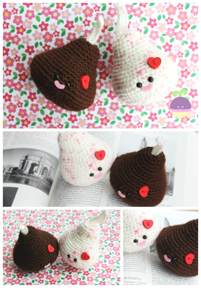 Onigiri Couple Amigurumi Free Crochet Pattern : Amigurumi Food: Onigiri Amigurumi Free pattern