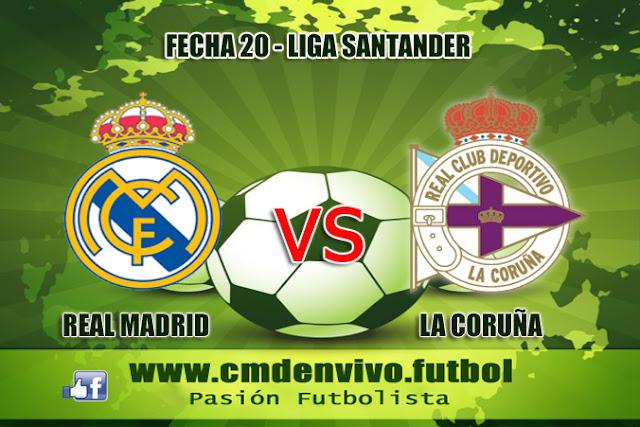 real Madrid, la coruña, en vivo, liga santander, online