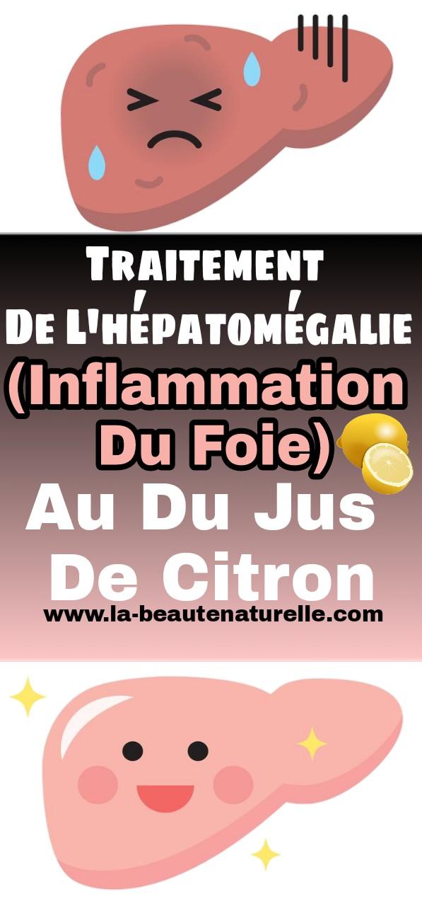 Traitement de l'hépatomégalie (inflammation du foie) au du jus de citron