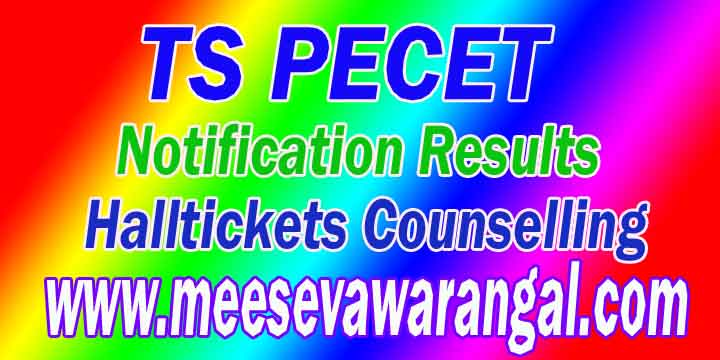 Telangana TS PECET 2016 Notification Only Application Fee Payment Exam Admitcard Rankcard Result