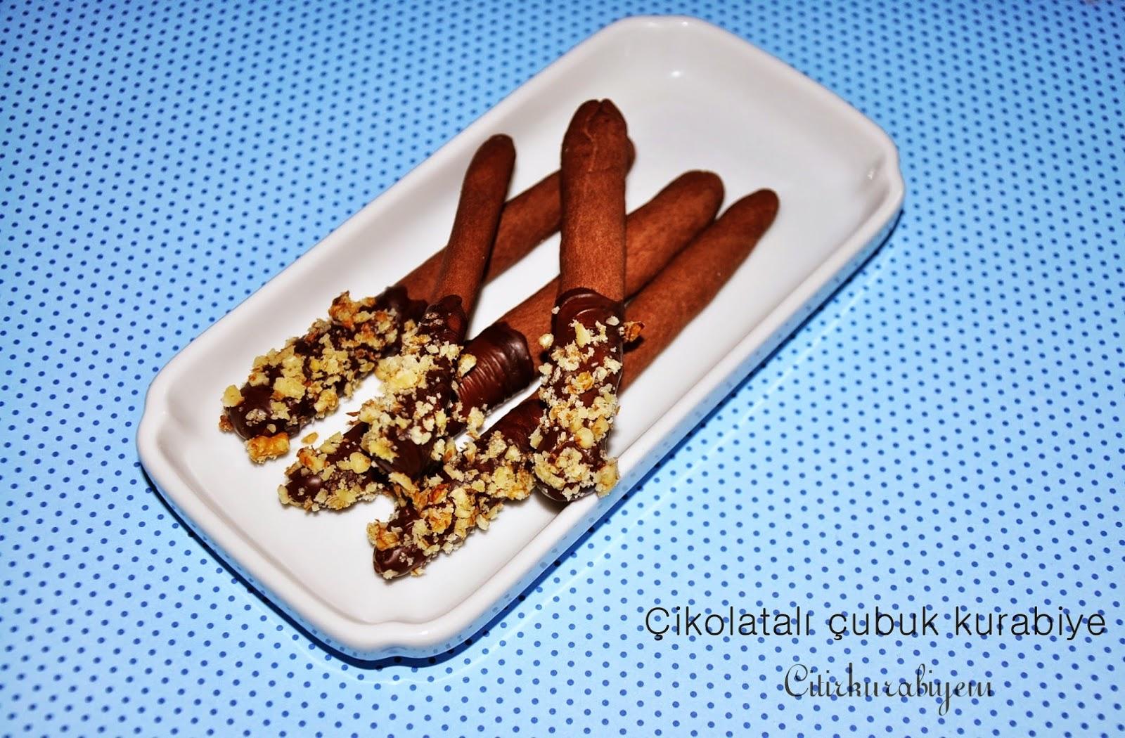 Çikolatalı Çubuk Kurabiye Tarifi