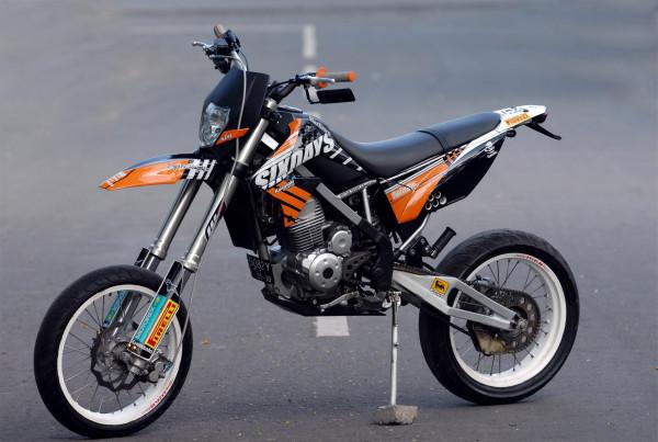 modifikasi motor trail klx terpopuler