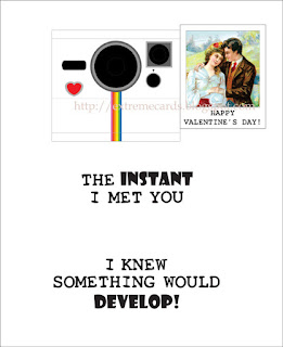 valentine pop up card polaroid camera