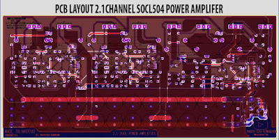 PCB Layout Power SOCL504 2.1 Channel Amplifier