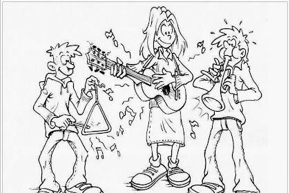 Mewarnai Gambar Penyanyi