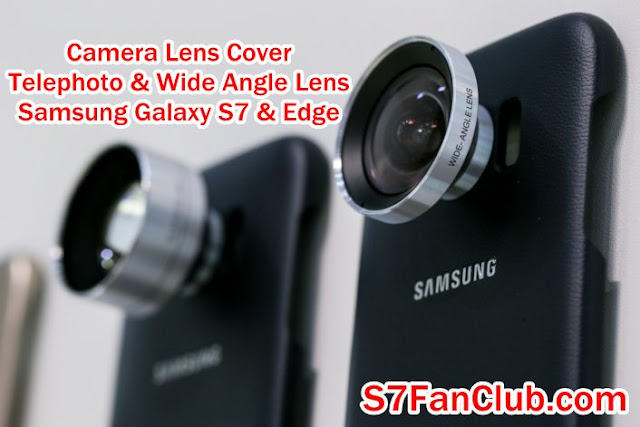 Samsung Galaxy S7 Edge Camera Lens Cover - Telephoto Lens - Wide Angle Lens