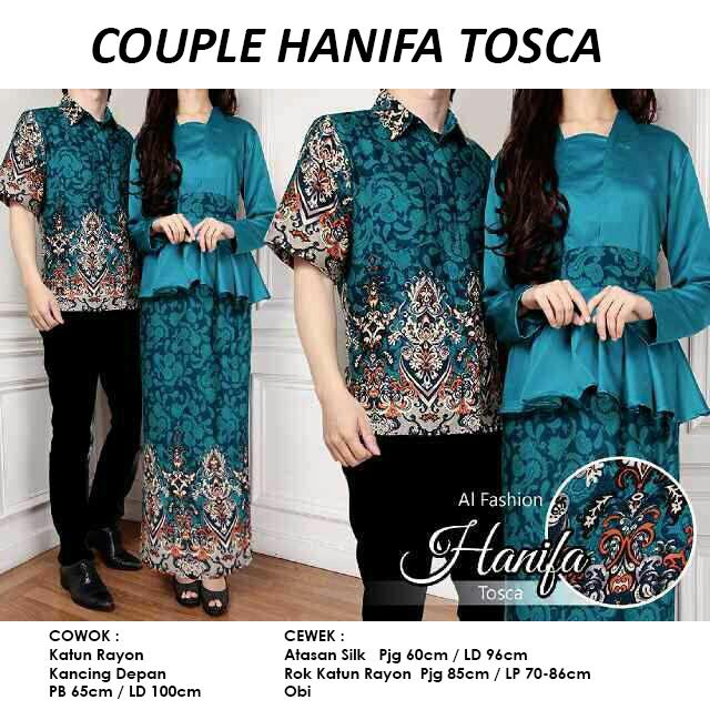 Gamis Couple Hanifa Tosca Original By Al Fashion - Cp Rajada Hanifah -  pusat grosir online baju batik couple sarimbit murah langsung konveksi solo  semarang ... 54b04632e7