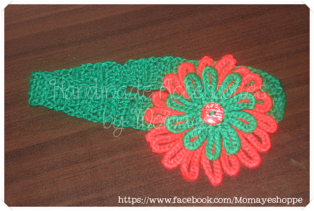 flower, free crochet pattern, headband, Poinsettia