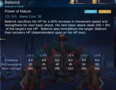 Hero Belerick Mobile Legends, Hero Tank Mirip Bulbasaur