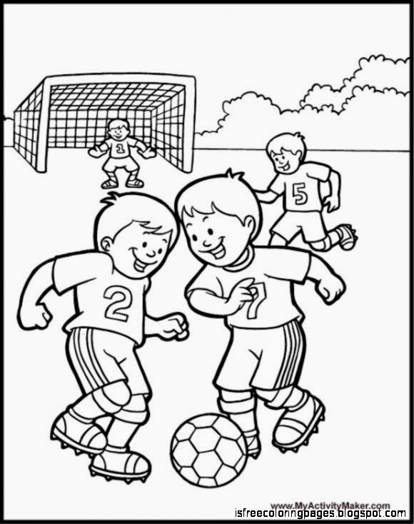 Free Coloring Pages Soccer Coloring Pages