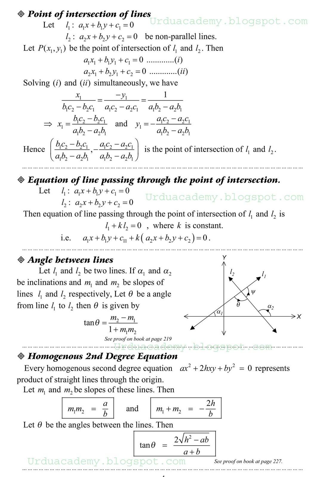 Mathematics Notes For Class 12 Fsc