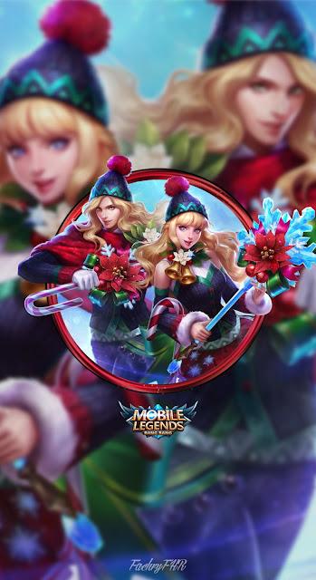 Walpaper Mobile Legends   Odette U0026 Lancelot Christmas Carnival