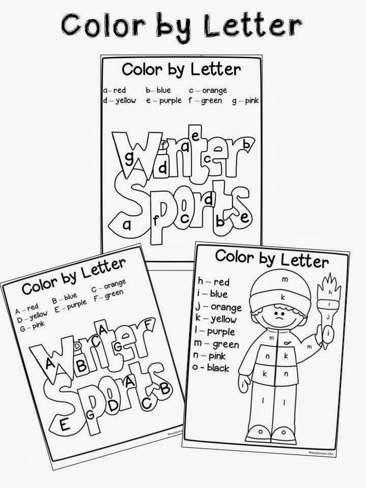 A special kind of class: Winter Sports no prep Alphabet