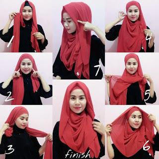 Model Hijab Pashmina Kaos Modern