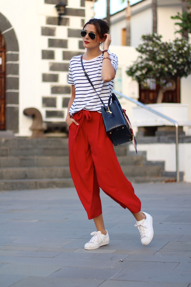 Marilynu0026#39;s Closet - FASHION BLOG Culottes and Sneakers