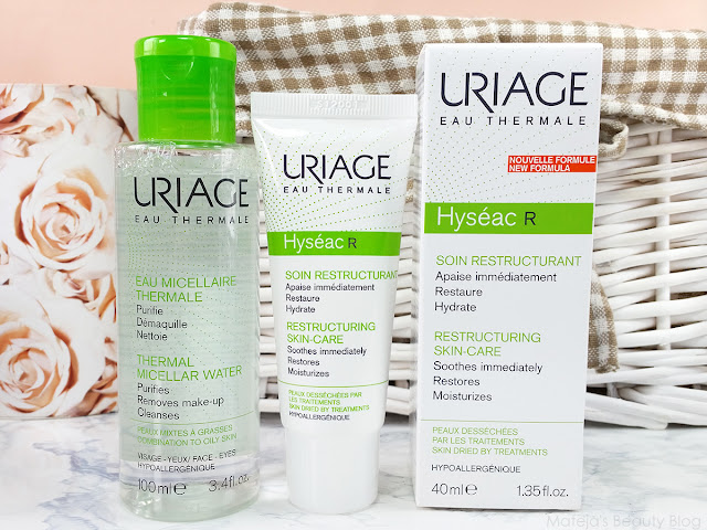 Uriage Thermal Micellar Water and Restructruing Skin-Care