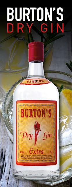 création de visuel pour décoration de stand gin Burton's