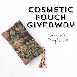 freebie friday, giveaway, handmade cosmetic bag, Henny Seashell, contest, free stuff, win free stuff, sweepstakes, raffle