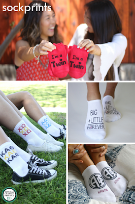 Get Your Greek On with sockprints!