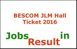 BESCOM JLM Hall Ticket 2016