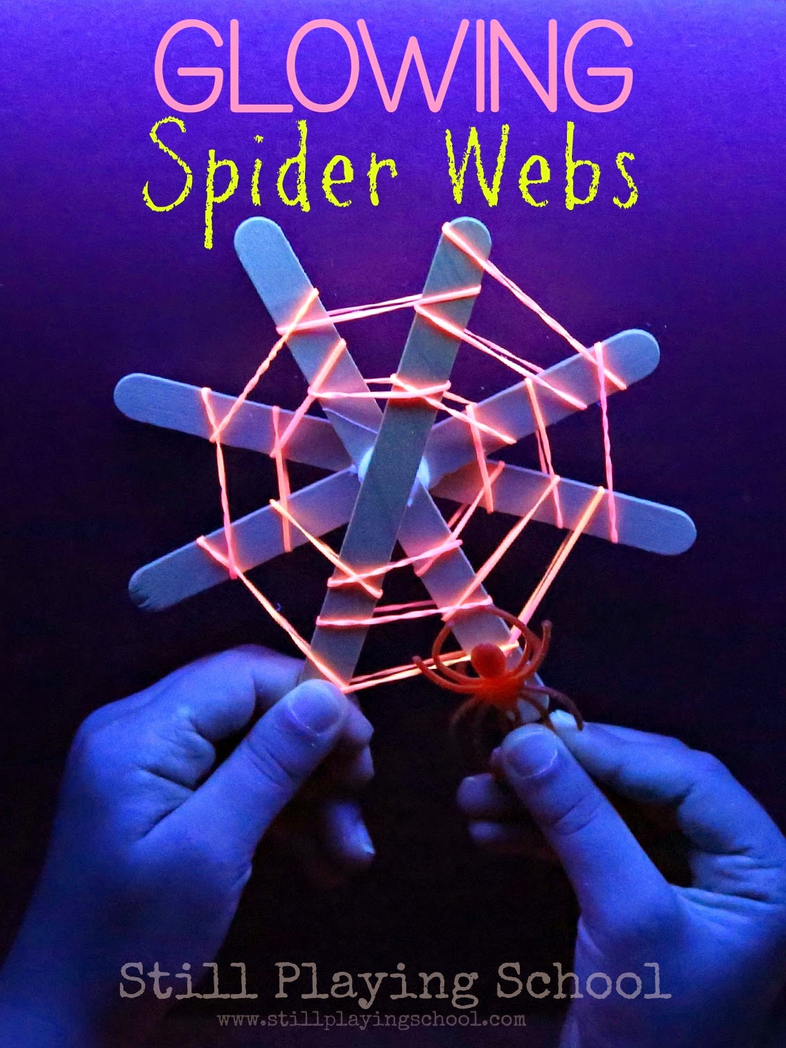 Glow Spider Webs