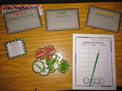 Christmas Cookie Word Sort Freebie
