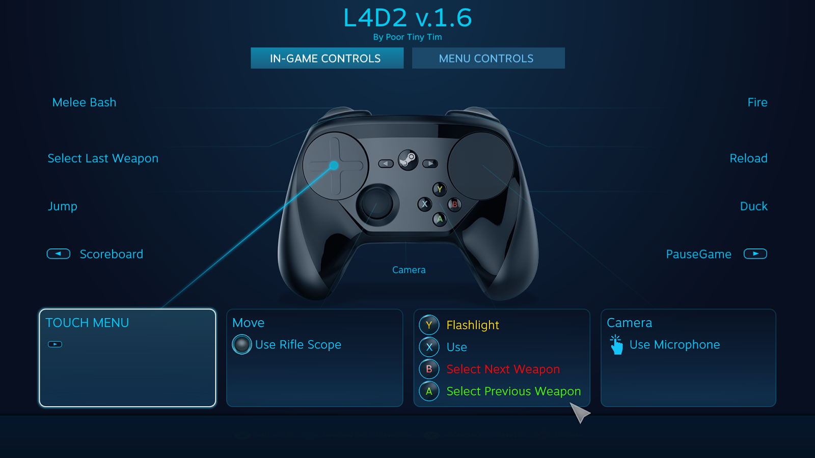 Crouch Jump Macro That Works After Binding: Hardware Steam Controller