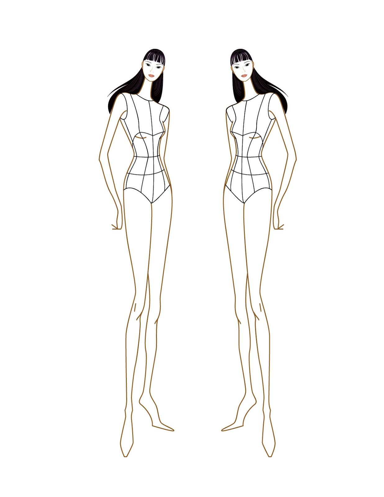 Female fashion figure croqui eded0f9d0ec