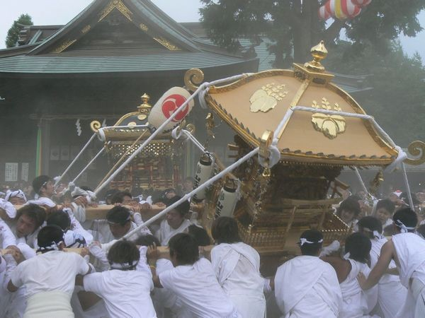 Yawatanmachi (traditional Mikoshi parade festival), Tateyama City, Chiba Pref.