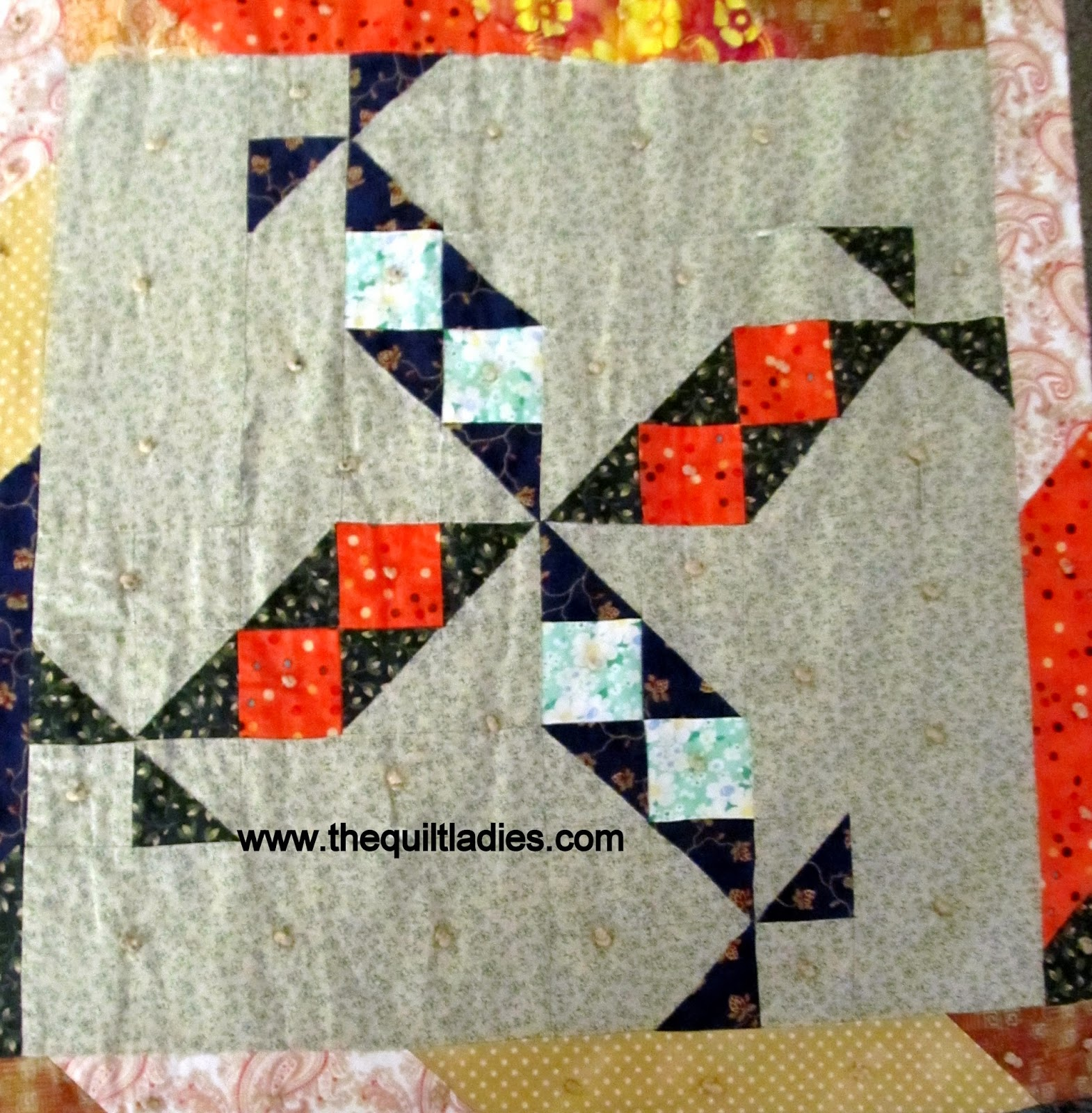 a torn quilt is fixed