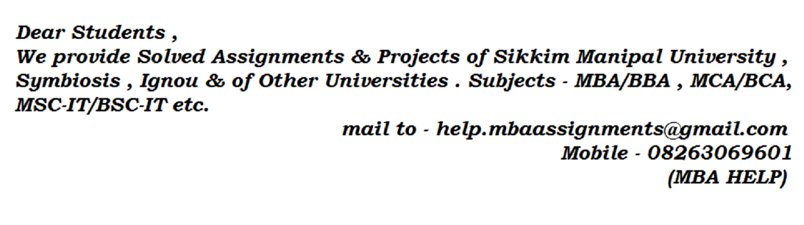 Smu mba assignment help