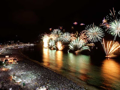 New Year in Copacabana beach