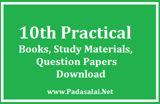 10th Practical Books, Study Materials, Question Papers