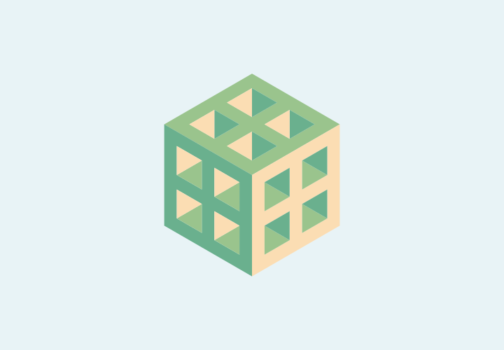 Geometry Cubes Flat Design