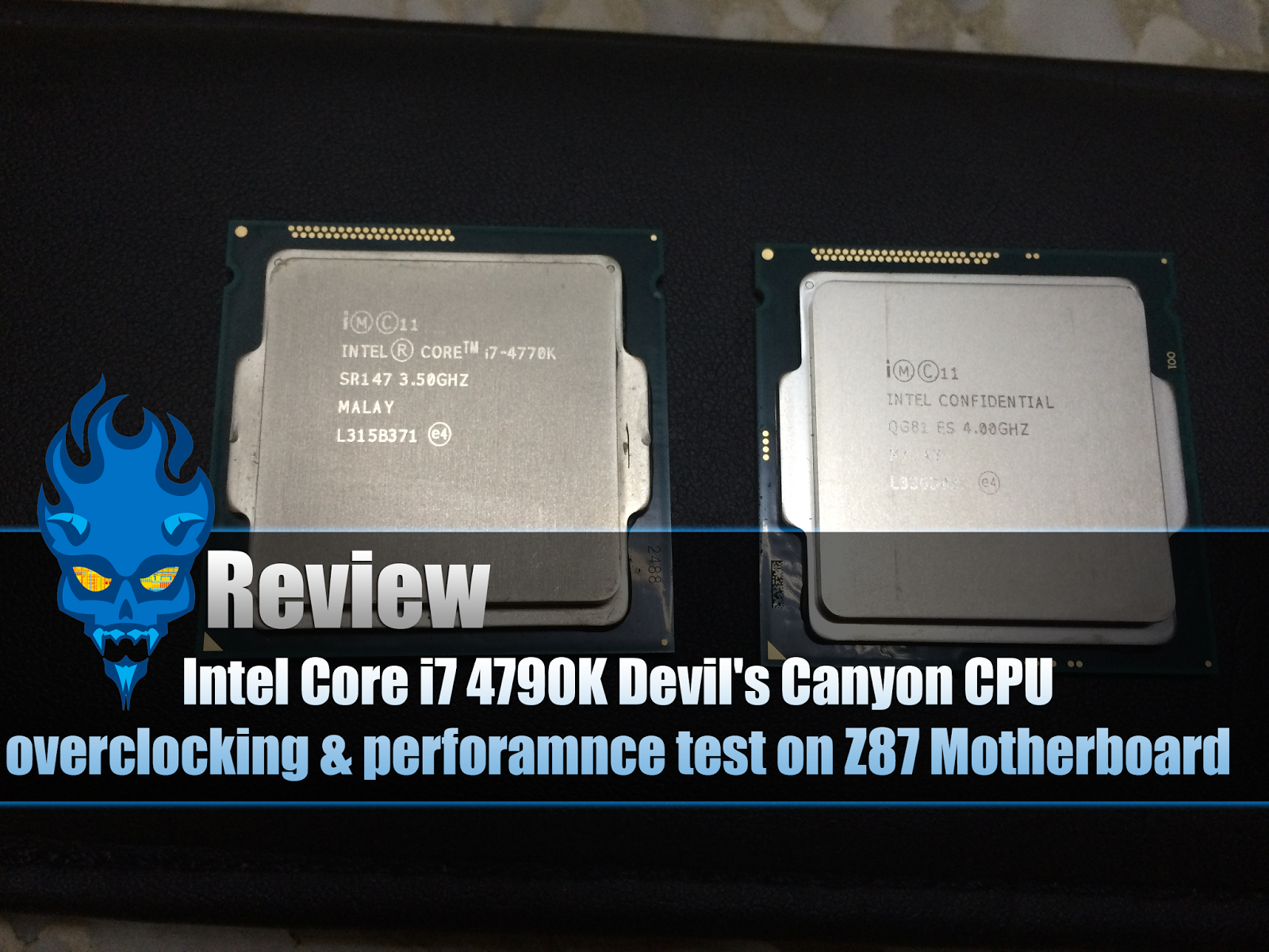 Review: Intel Core i7 4790K Devil's Canyon CPU on Z87 Motherboard