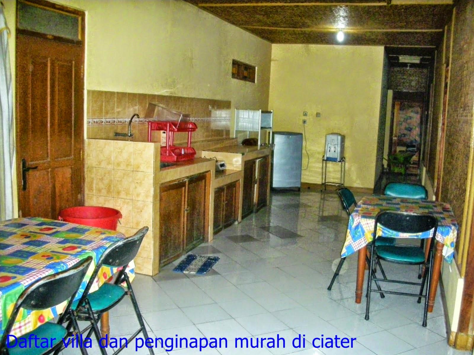 dapur villa ciater