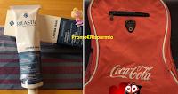 Logo In consegna Zaini Coca-Cola e Kit Rilastil Crema mani