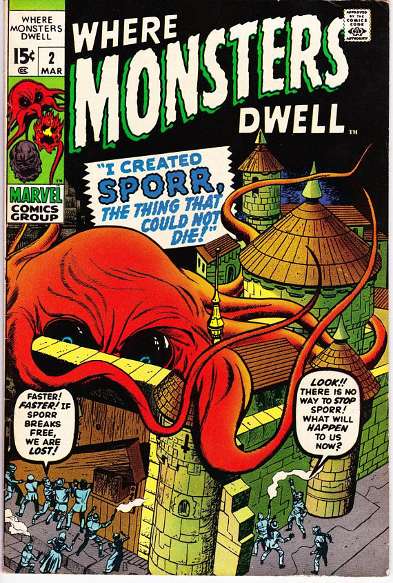 Where Monsters Dwell #2 March 1970 Marvel Comics Grade VF