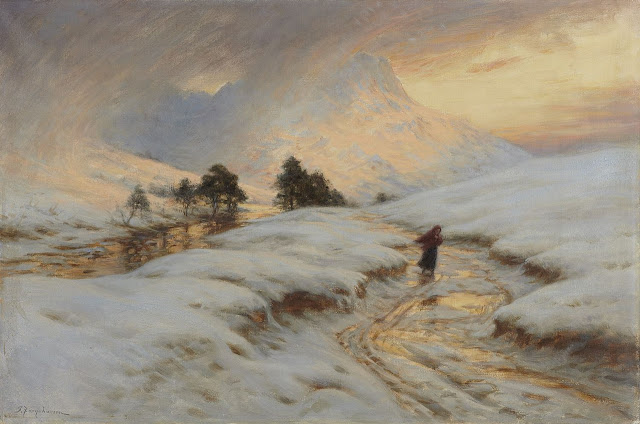 Artwork by Joseph Farquharson, Homeward Bound, Made of Oil on canvas