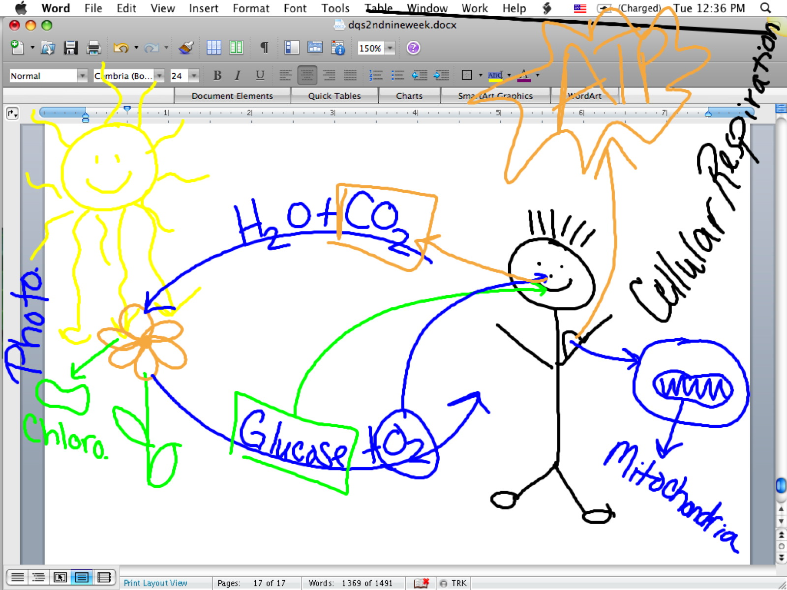 Photosynthesis And Cellular Respiration Diagram Control 4 Switch Wiring Blank Mitochondria Free Engine Image For