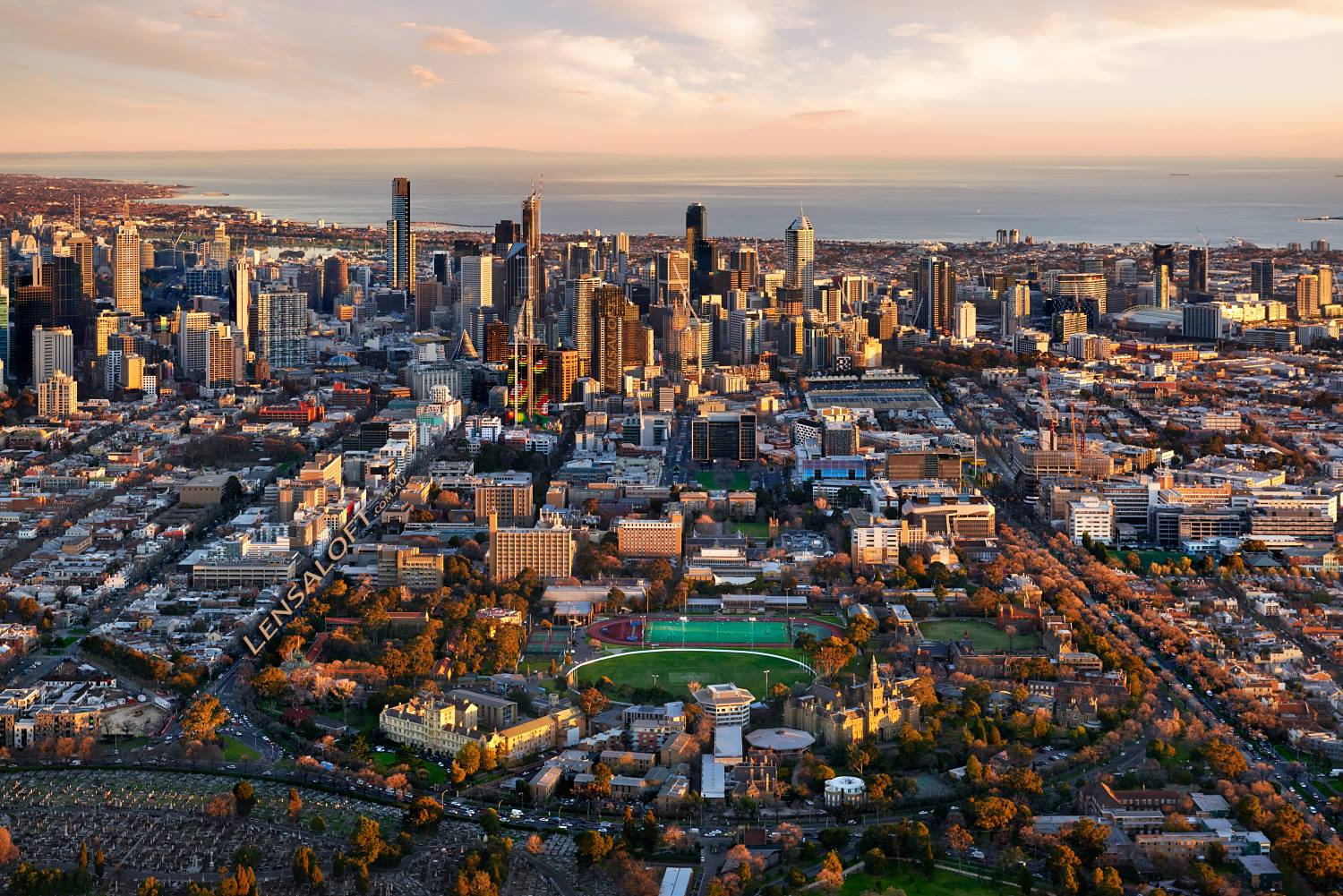 Melbourne aerial photos