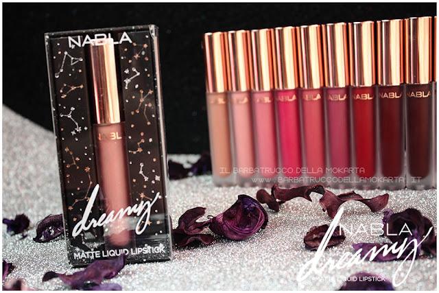 Dreamy Matte Liquid Lipstick rossetto liquido nabla cosmetics  scatolina