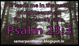 He leads me in the paths of righteousness for his name's sake. Psalm 23:3