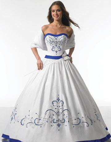 bridal style and wedding ideas wedding dresses in blue. Black Bedroom Furniture Sets. Home Design Ideas