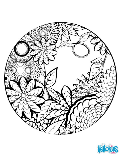 Mandala Coloring Page Worksheet