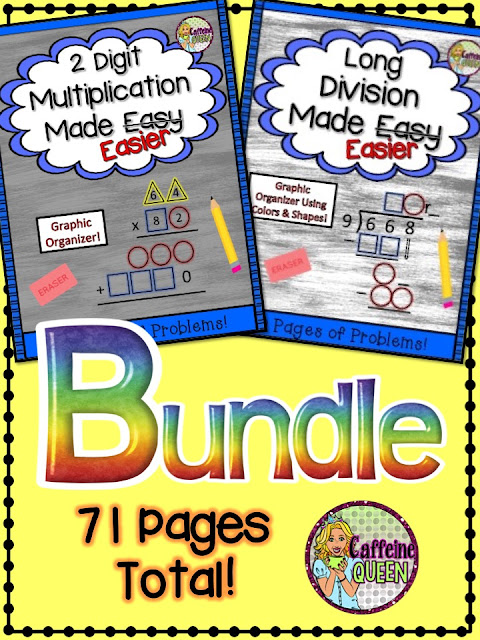 Terrific bundle for math remediation and special education students!