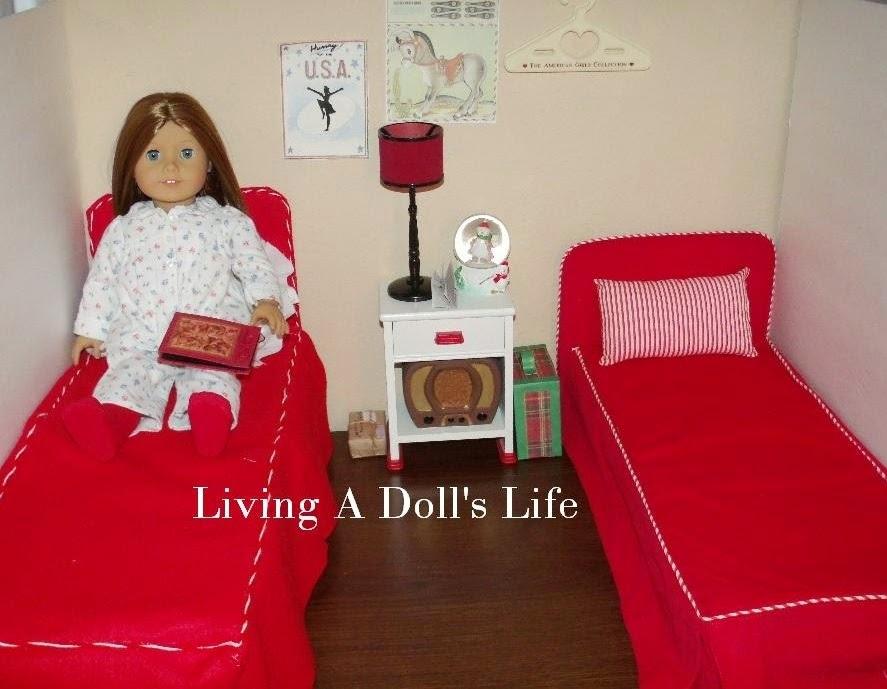 http://livingadollslife.blogspot.com/2014/11/tbt-mollys-red-bed-nightstand-vanity.html