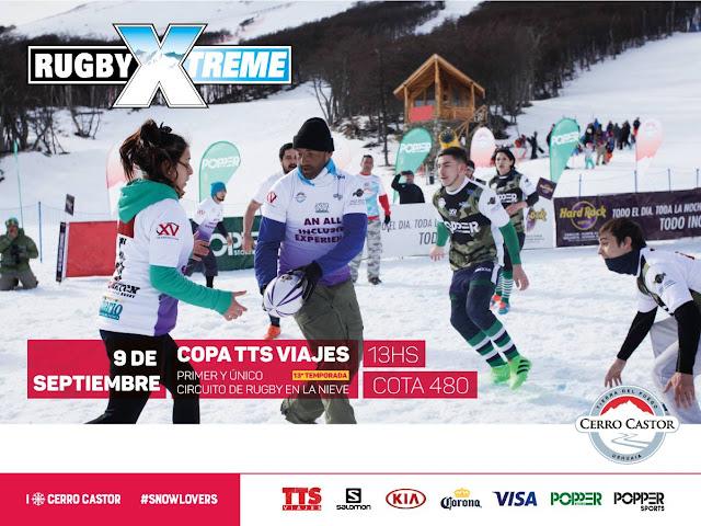 El 9 de septiembre, Rugby Xtreme en el Cerro Castor