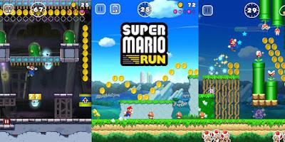 tampilan games super mario run