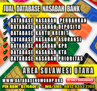 Jual Database Nomor HP Orang Kaya Area Sulawesi Utara